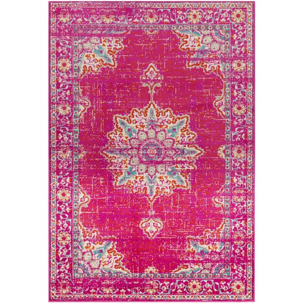 Surya Paramount Updated Traditional Area Rug - 7-ft 9-in x 11-ft 2-in - Rectangular - Fuchsia