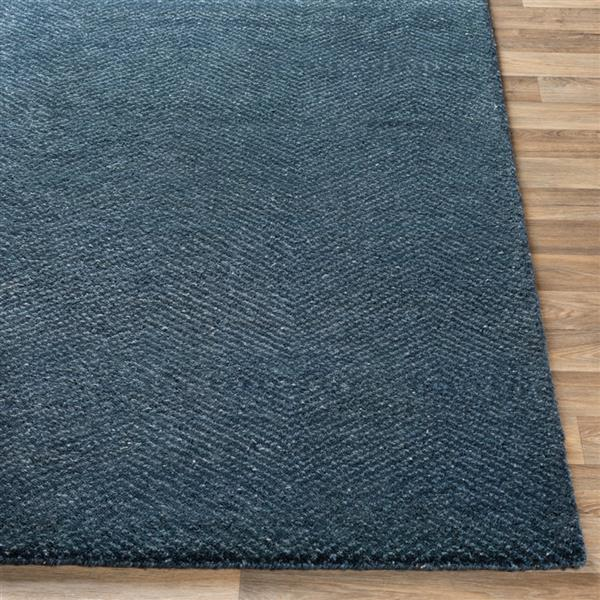 Surya Parma Solid Area Rug - 2-ft x 3-ft - Rectangular - Navy