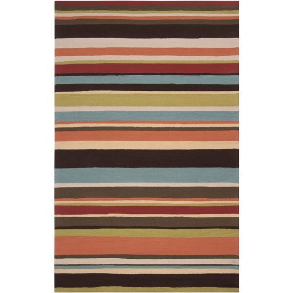 Surya Rain Indoor/Outdoor Area Rug - 9-ft x 12-ft - Rectangular - Dark Brown