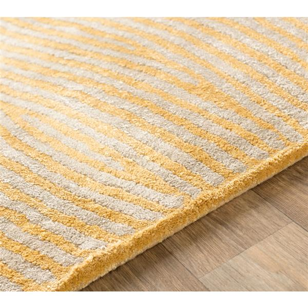 Surya Quartz Modern Area Rug - 3-ft x 5-ft - Rectangular - Butter