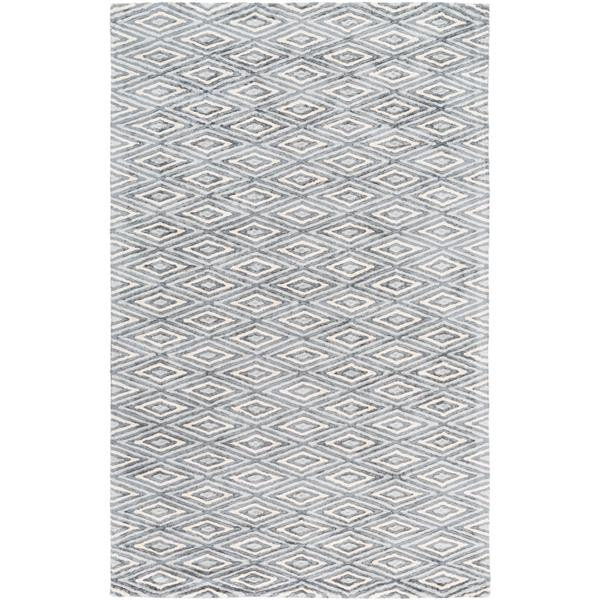 Surya Quartz Modern Area Rug - 10-ft x 14-ft - Rectangular - Gray