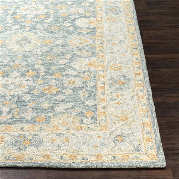 Surya Panipat Updated Traditional Area Rug - 9-ft x 12-ft - Rectangular - Dark Green