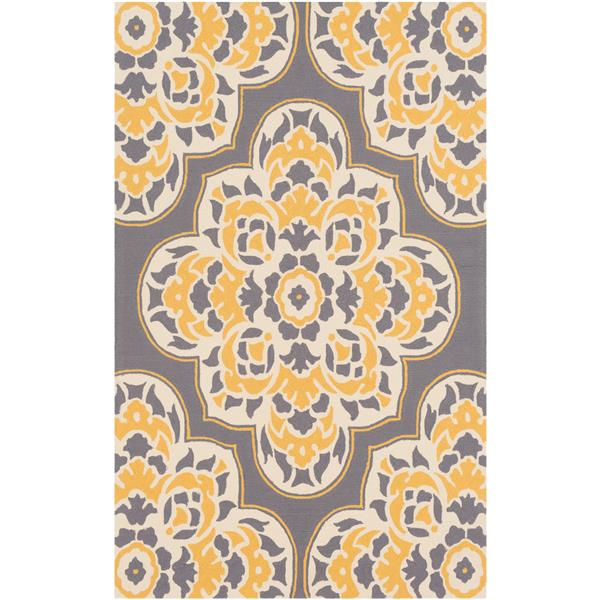 Surya Rain Indoor/Outdoor Area Rug - 8-ft x 10-ft - Rectangular - Yellow