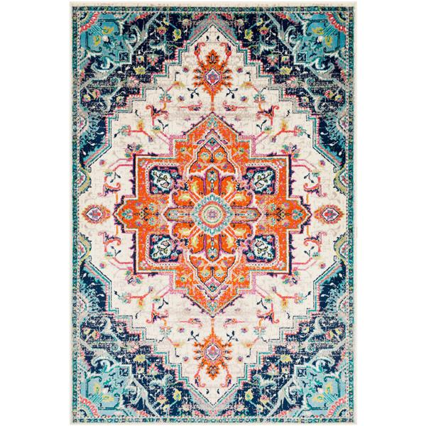 Surya Paramount Updated Traditional Area Rug - 6-ft 7-in x 9-ft 6-in - Rectangular - Orange