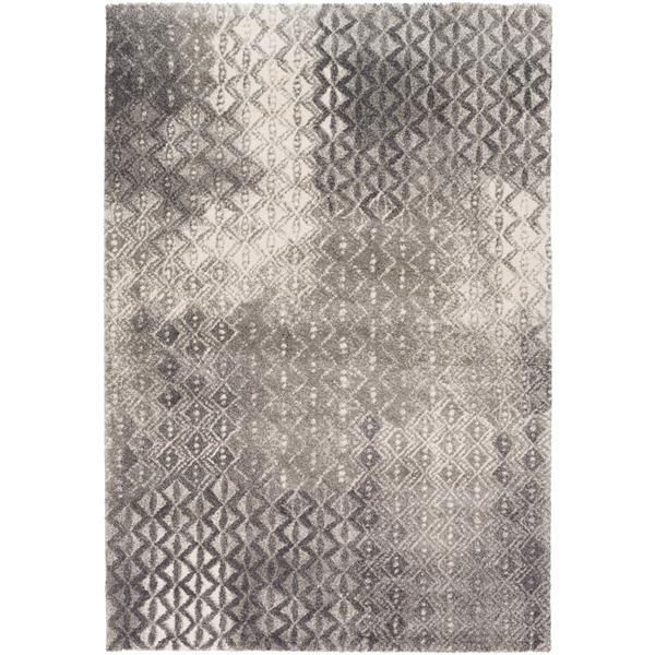 Surya Pembridge Bohemian Area Rug - 6-ft 7-in x 9-ft 6-in - Rectangular - Charcoal