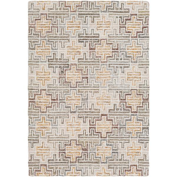 Surya Robin Modern Area Rug - 8-ft x 10-ft - Rectangular - Tan