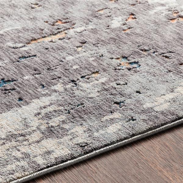 Surya Presidential Modern Area Rug - 9-ft x 13-ft 1-in - Rectangular - Charcoal
