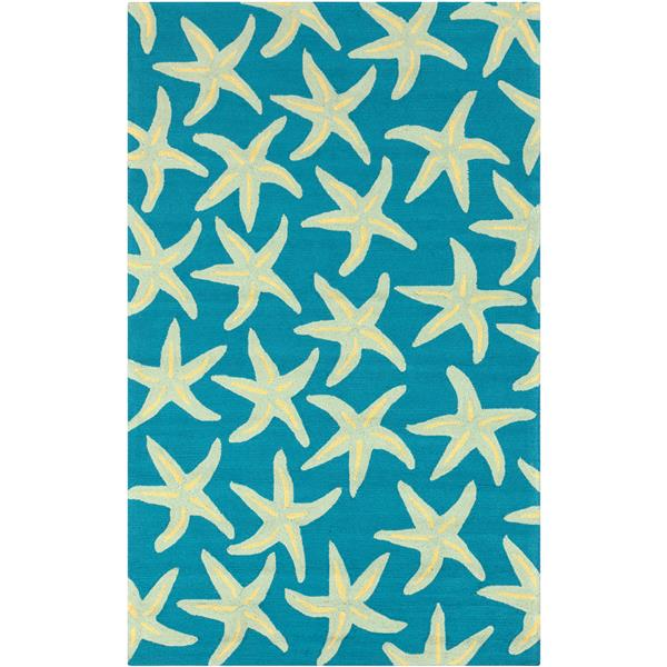 Surya Rain Indoor/Outdoor Area Rug - 9-ft x 12-ft - Rectangular - Blue