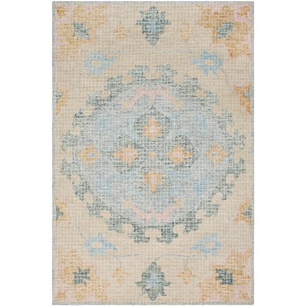 Surya Piastrella Updated Traditional Area Rug - 8-ft x 10-ft - Rectangular - Teal