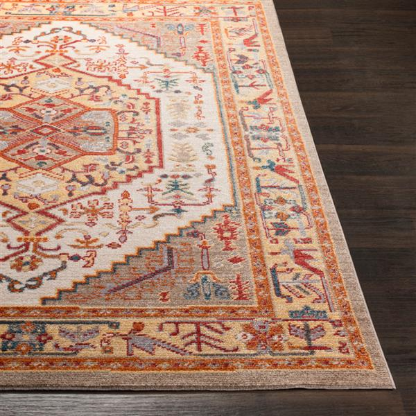 Surya Patina Updated Traditional Area Rug - 7-ft 10-in x 10-ft 3-in - Rectangular - Orange/Yellow