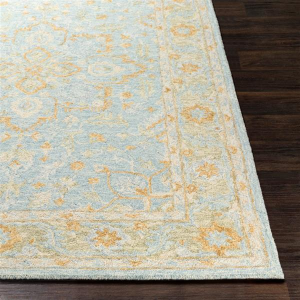 Surya Panipat Updated Traditional Area Rug - 9-ft x 12-ft - Rectangular - Aqua