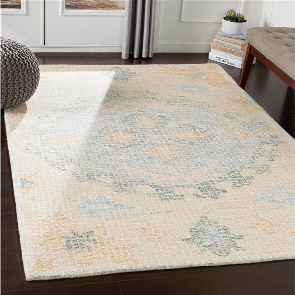 Surya Piastrella Updated Traditional Area Rug - 9-ft x 12-ft - Rectangular - Teal