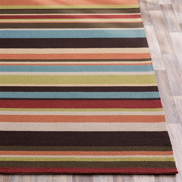 Surya Rain Indoor/Outdoor Area Rug - 8-ft x 10-ft - Rectangular - Dark Brown