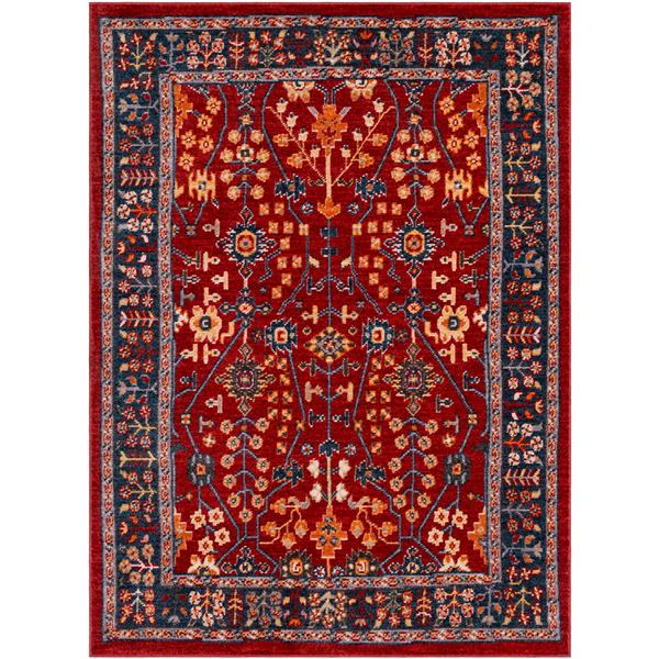 Surya Patina Updated Traditional Area Rug - 3-ft 11-in x 5-ft 7-in - Rectangular - Red