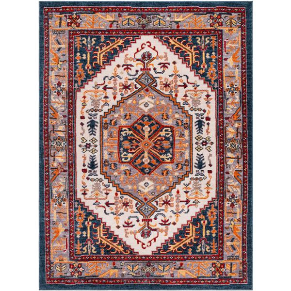 Surya Patina Updated Traditional Area Rug - 7-ft 10-in x 10-ft 3-in - Rectangular - Gray/Blush