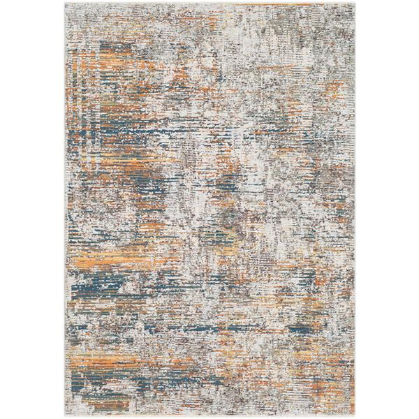 Surya Presidential Modern Area Rug - 7-ft 10-in x 10-ft 3-in - Rectangular - Blue/Orange