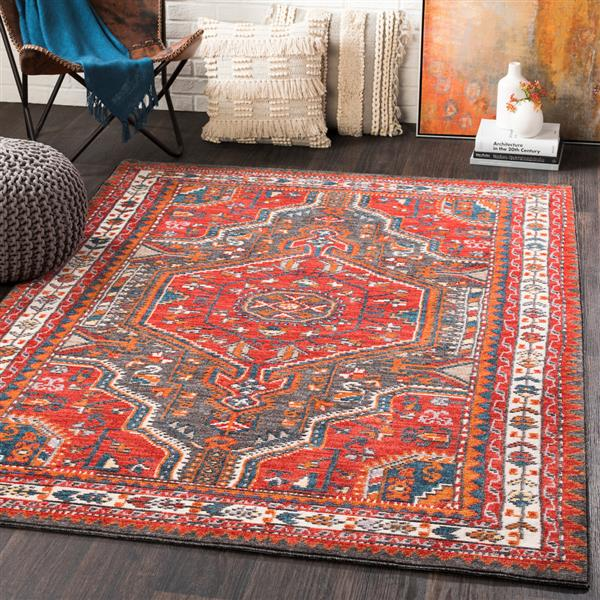 Surya Patina Updated Traditional Area Rug - 7-ft 10-in x 10-ft 3-in - Rectangular - Red