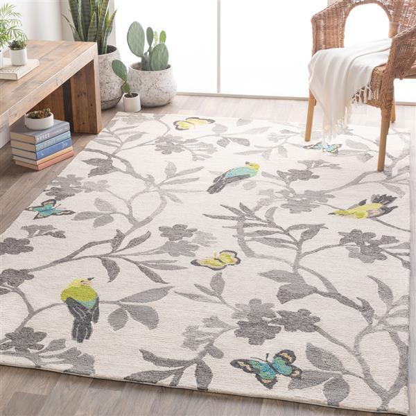 Surya Rain Indoor/Outdoor Area Rug - 9-ft x 12-ft - Rectangular - Gray