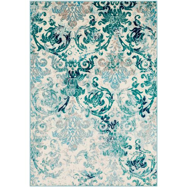 Surya Paramount Transitional Area Rug - 6-ft 7-in x 9-ft 6-in - Rectangular - Teal
