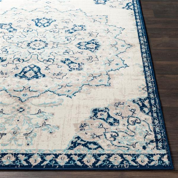 Surya Paramount Updated Traditional Area Rug - 8-ft 10-in x 12-ft 9-in - Rectangular - Navy