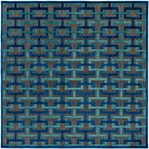 Surya Portera Indoor/Outdoor Area Rug - 7-ft 6-in - Square - Navy