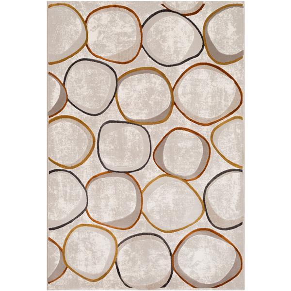Surya Peachtree Modern Area Rug - 8-ft x 10-ft - Rectangular - Cream