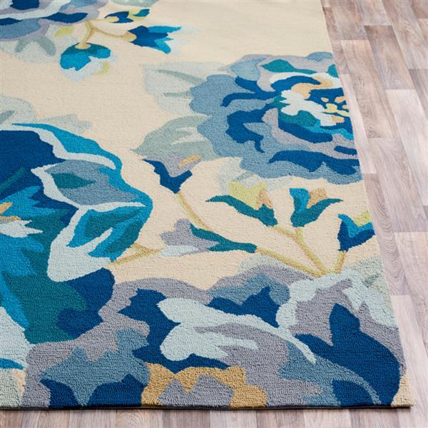 Surya Rain Indoor/Outdoor Area Rug - 3-ft x 5-ft - Rectangular - Blue