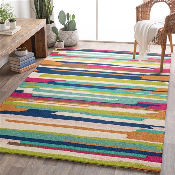 Surya Rain Indoor/Outdoor Area Rug - 8-ft x 10-ft - Rectangular - Multi