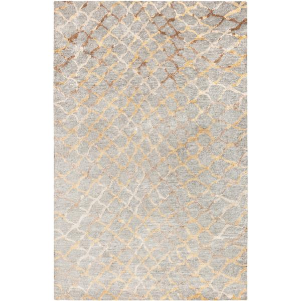 Surya Platinum Modern Area Rug - 2-ft x 3-ft - Rectangular - Gray