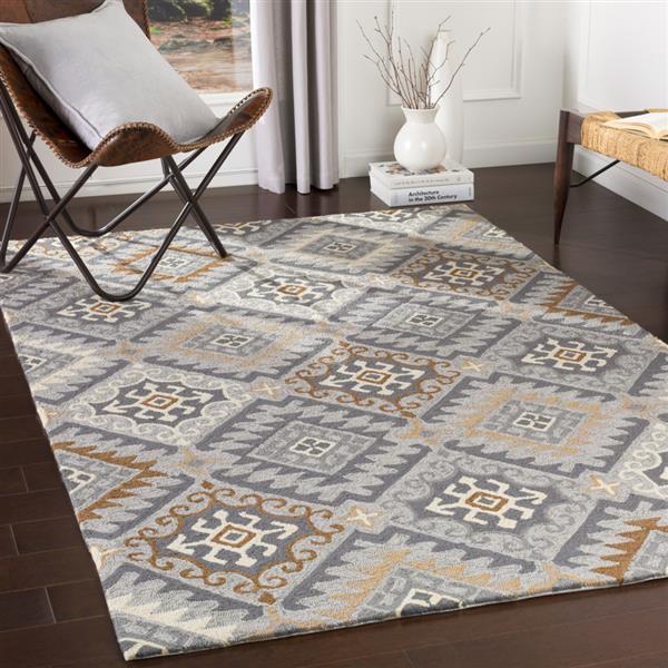 Surya Rain Indoor/Outdoor Area Rug - 8-ft x 10-ft - Rectangular - Gray