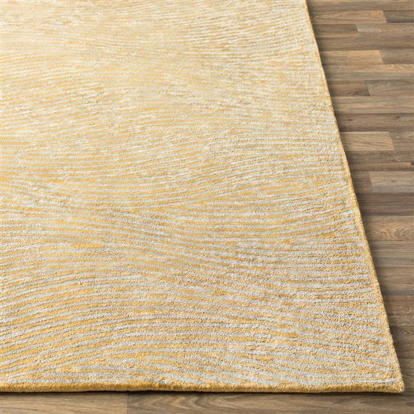 Surya Quartz Modern Area Rug - 8-ft x 10-ft - Rectangular - Butter