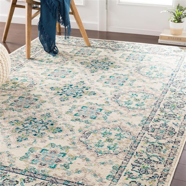 Surya Paramount Transitional Area Rug - 7-ft 9-in x 11-ft 2-in - Rectangular - Teal