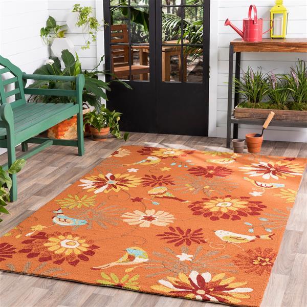 Surya Rain Indoor/Outdoor Area Rug - 3-ft x 5-ft - Rectangular - Burnt Orange