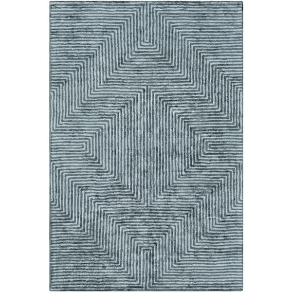 Surya Quartz Modern Area Rug - 3-ft x 5-ft - Rectangular - Sage