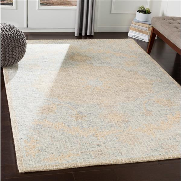 Surya Piastrella Updated Traditional Area Rug - 9-ft x 12-ft - Rectangular - Blue