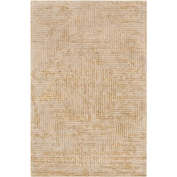 Surya Quartz Modern Area Rug - 4-ft x 6-ft - Rectangular - Tan