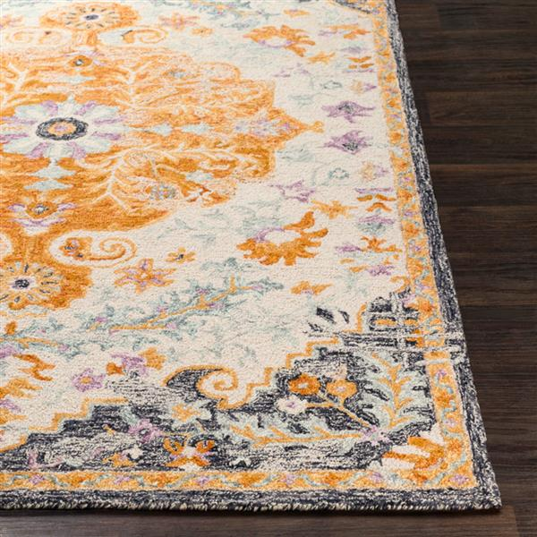 Surya Panipat Updated Traditional Area Rug - 8-ft x 10-ft - Rectangular - Orange