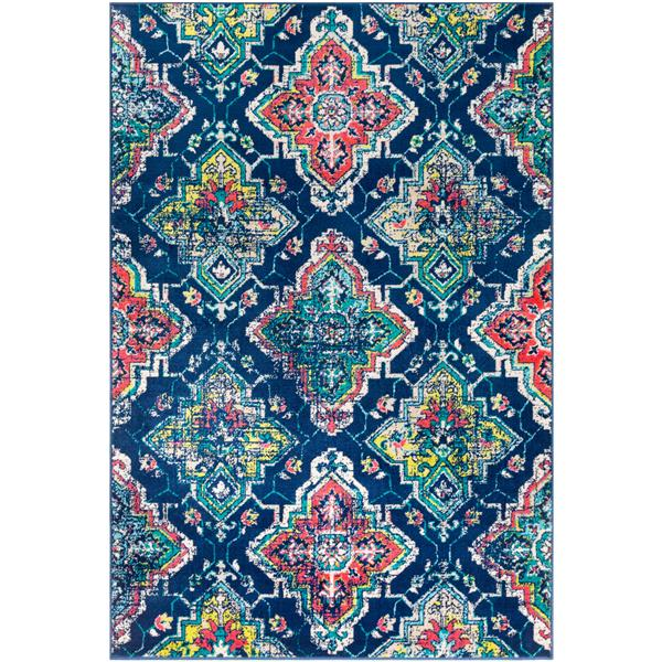 Surya Paramount Transitional Area Rug - 6-ft 7-in x 9-ft 6-in - Rectangular - Navy