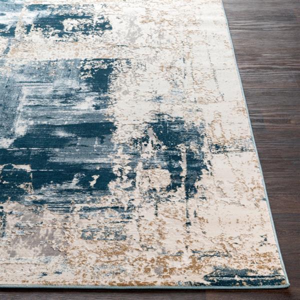 Surya Quatro Updated Traditional Area Rug - 9-ft 3-in x 12-ft 3-in - Rectangular - Dark Blue