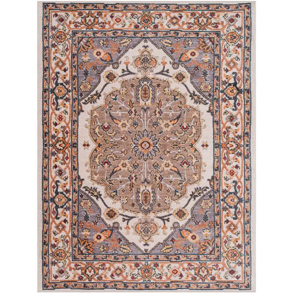 Surya Patina Updated Traditional Area Rug - 3-ft 11-in x 5-ft 7-in - Rectangular - Taupe