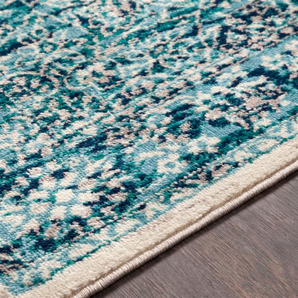 Surya Paramount Updated Traditional Area Rug - 8-ft 10-in x 12-ft 9-in - Rectangular - Aqua