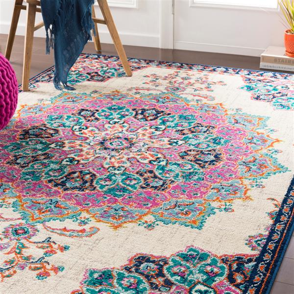Surya Paramount Updated Traditional Area Rug - 8-ft 10-in x 12-ft 9-in - Rectangular - Fuchsia