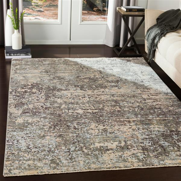 Surya Presidential Modern Area Rug - 3-ft 3-in x 5-ft - Rectangular - Gray