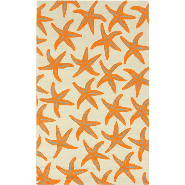 Surya Rain Indoor/Outdoor Area Rug - 9-ft x 12-ft - Rectangular - Orange