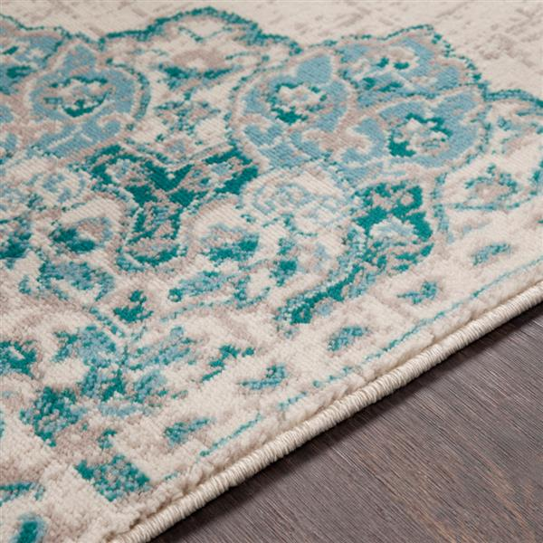 Surya Paramount Updated Traditional Area Rug - 7-ft 9-in x 11-ft 2-in - Rectangular - Teal