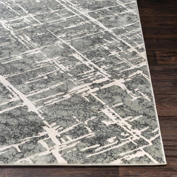 Surya Quatro Updated Traditional Area Rug - 6-ft 7-in x 9-ft 6-in - Rectangular - Gray