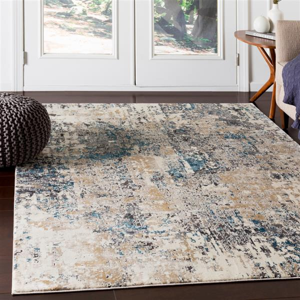 Surya Pune Modern Area Rug - 6-ft 7-in x 9-ft 6-in - Rectangular - Taupe