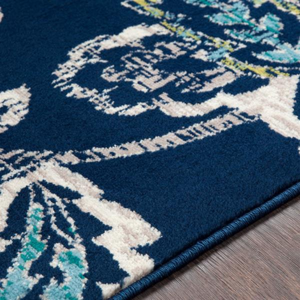 Surya Paramount Transitional Area Rug - 7-ft 9-in x 11-ft 2-in - Rectangular - Navy