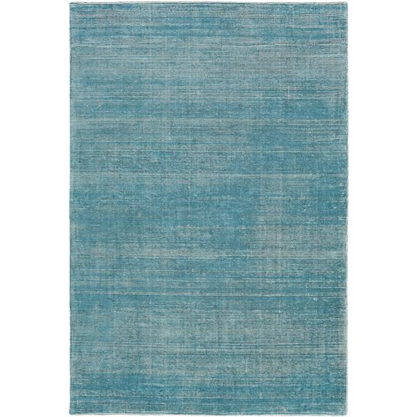 Surya Prague Solid Area Rug - 9-ft x 13-ft - Rectangular - Aqua