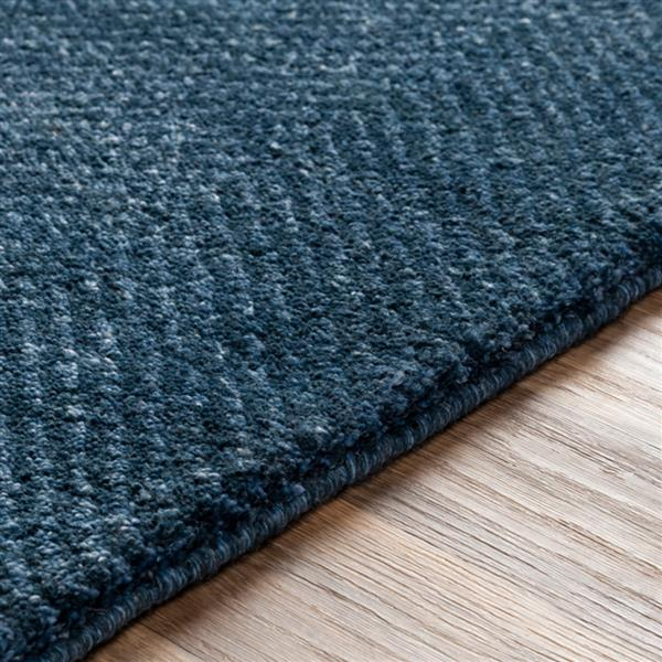 Surya Parma Solid Area Rug - 4-ft x 6-ft - Rectangular - Navy